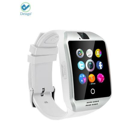 Deago Q18 Bluetooth Smartwatch Phone Touchscreen with Camera Smart Wrist Watch for Samsung Android iPhone Cell phones (Watch Cell Phone Camera)
