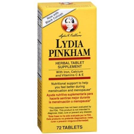 LYDIA PINKHAM supplément à base de plantes comprimés 72 comprimés (pack de 2)