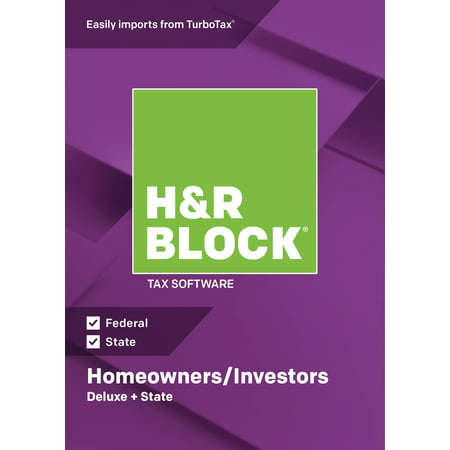 H&R Block Tax Software 2018 Deluxe + State Win (Email Delivery) - Fingerprint Scanner Software