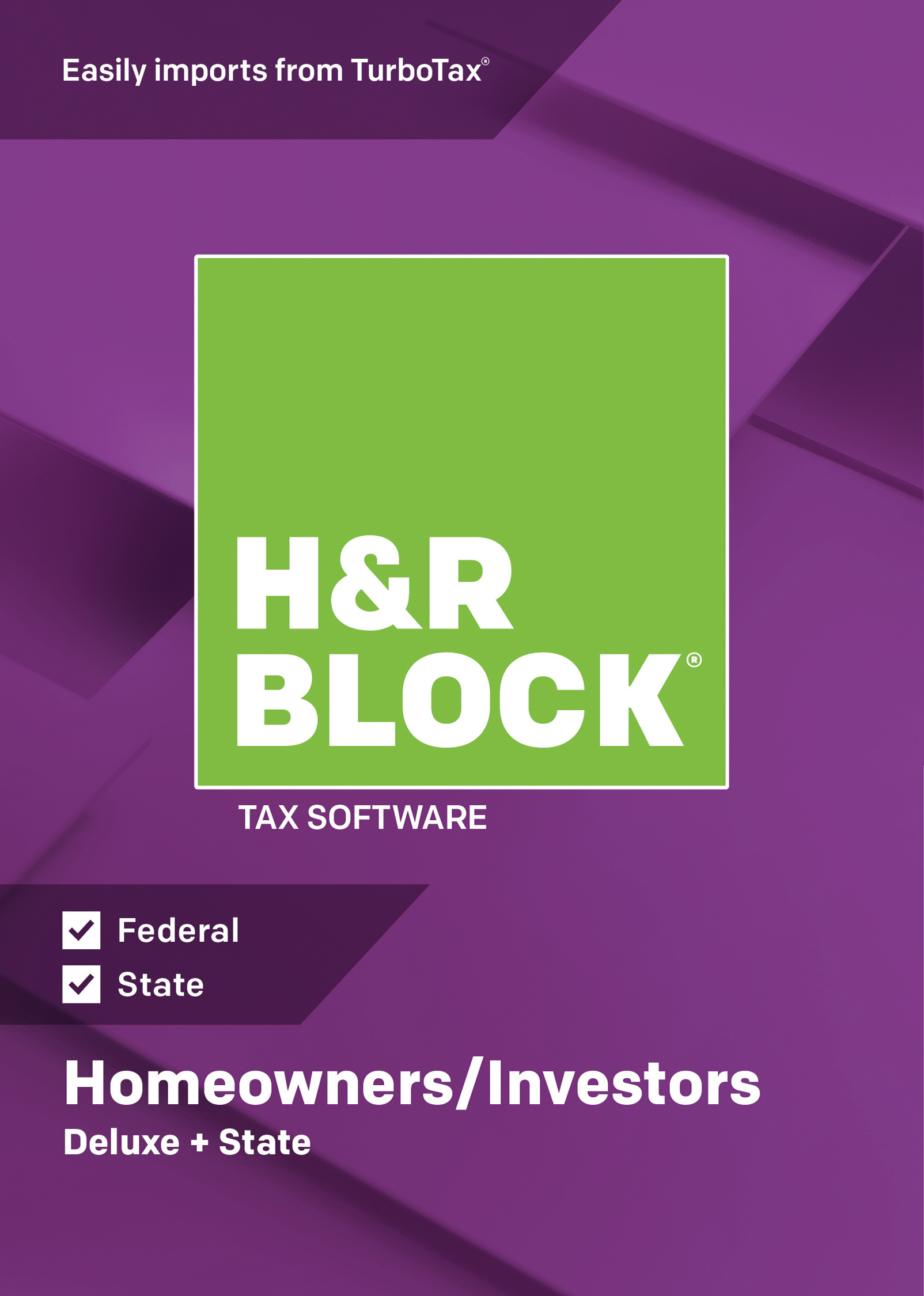 H&R BLOCK Tax Software Deluxe + State 2018 Windows - Download