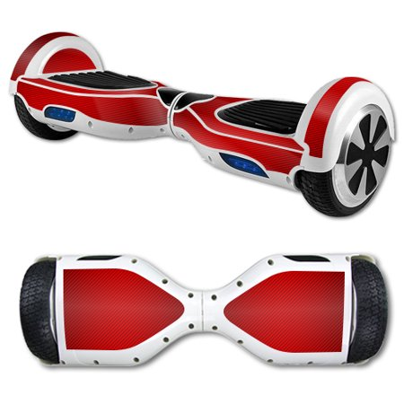 MightySkins Protective Vinyl Skin Decal for Hover Board Self Balancing Scooter mini 2 wheel x1 razor wrap cover Red Carbon Fiber