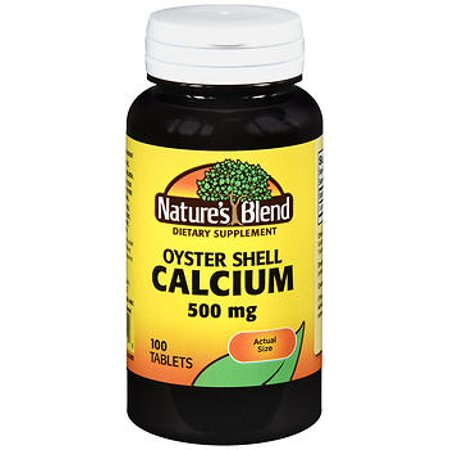Nature's Blend Oyster Shell Calcium Tablets, 500 mg, 100 Count