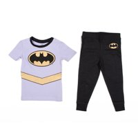 DC Comics Toddler Girl's Batgirl 'Batman Gold Logo' Pajama Set Sleepwear, Multi, 3T