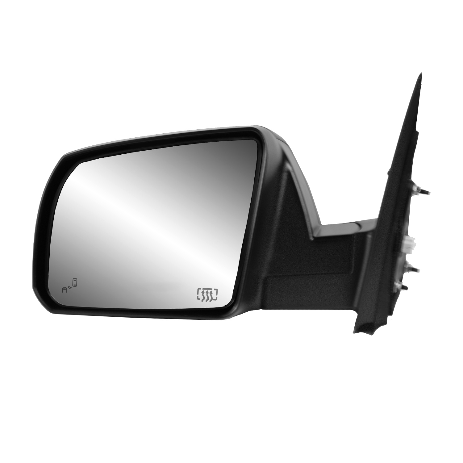 Manual Black Fit System Passenger Side Mirror for Toyota Tundra Pick-Up Foldaway