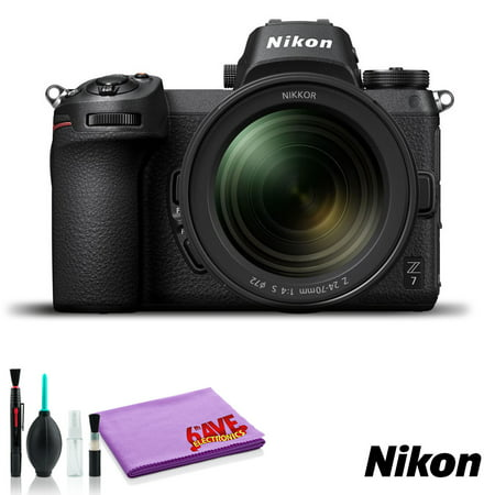 Nikon Z 7 Mirrorless Digital Camera with 24-70mm Lens (Intl Model) - with Cleaning Kit