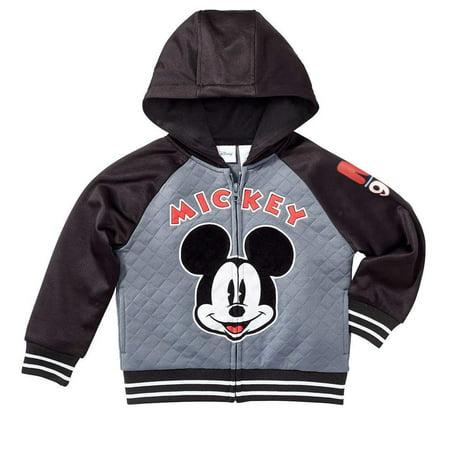 Disney Boy's Mickey Mouse Full-Zip Jacket (Grey/Black, (Disney Coat)