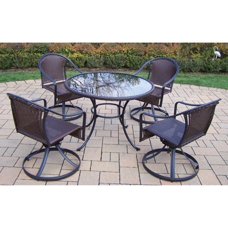 oakland living elite tuscany resin wicker swivel patio