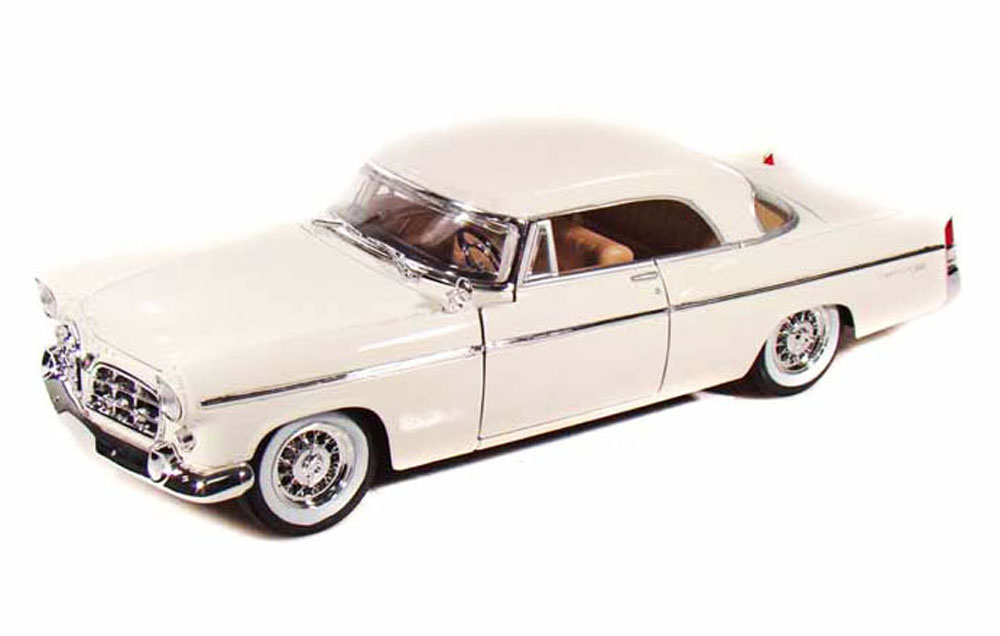 1956 Chrysler 300B, White Maisto 31897 1 18 Scale Diecast Model Toy Car by Maisto