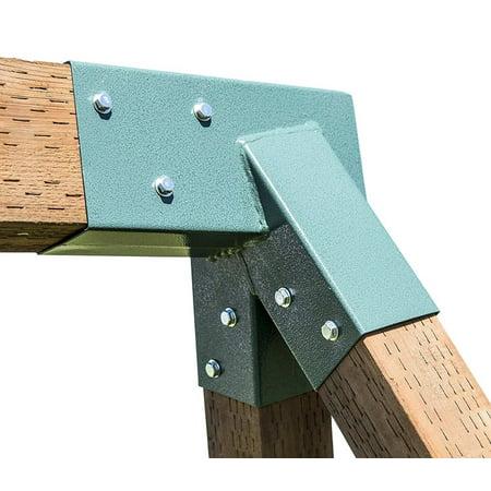 A-Frame Swing Set Bracket - For 2 (4X4) Legs & 1 (4X6) Beam - Includes Installation (A-frame Brackets)