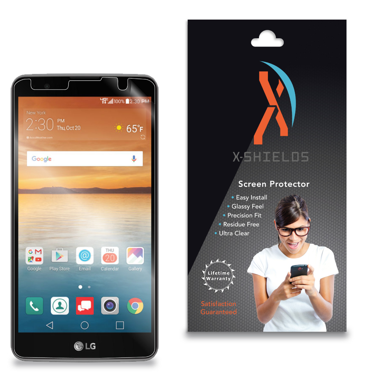 XShields© High Definition (HD+) Screen Protectors for LG Stylo 2V (Maximum Clarity) Super Easy Installation [5-Pack] Lifetime Warranty, Advanced Touchscreen Accuracy