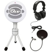 Blue Microphones Snowball Ice Mic w/ Knox Pop Filter & Headphones