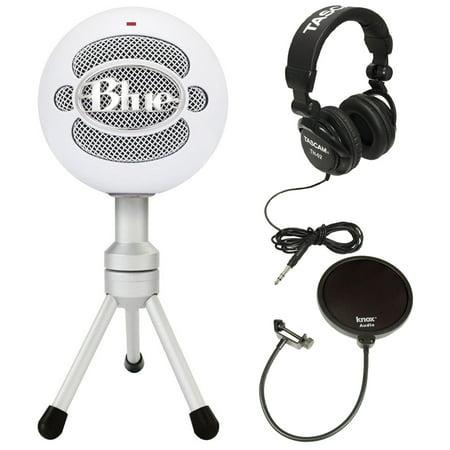 - Blue Microphones Snowball iCE USB Microphone + Knox Pop Filter + JVC Headphones