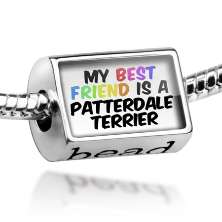 Bead My best Friend a Patterdale Terrier Dog from England Charm Fits All European
