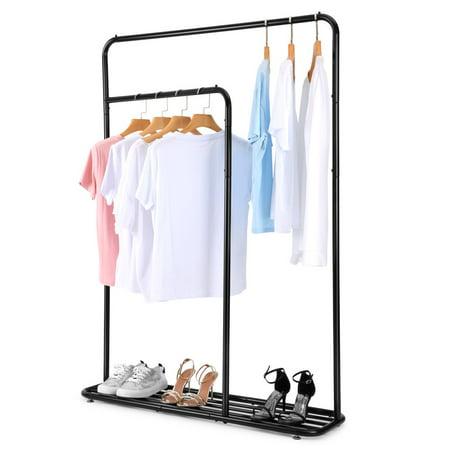 COZZINE Two-rod Garment Clothes Hanging Rack