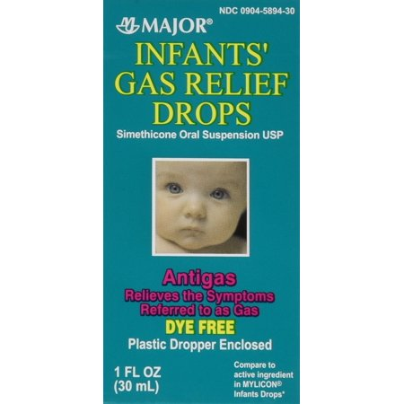 Newborns, Infants & Children Gas Relief Simethicone 20 mg/0.3ml Drops Dye Free Generic for Mylicon 1 oz (30ML) 2 PACK Total 2 oz 2 Bottles Total 2 (Best Way To Relieve Newborn Gas)