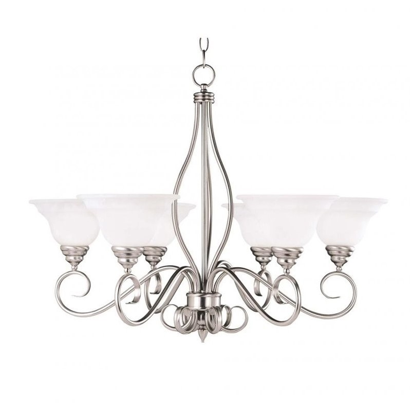 Savoy House Polar 6 Light Chandelier in Pewter