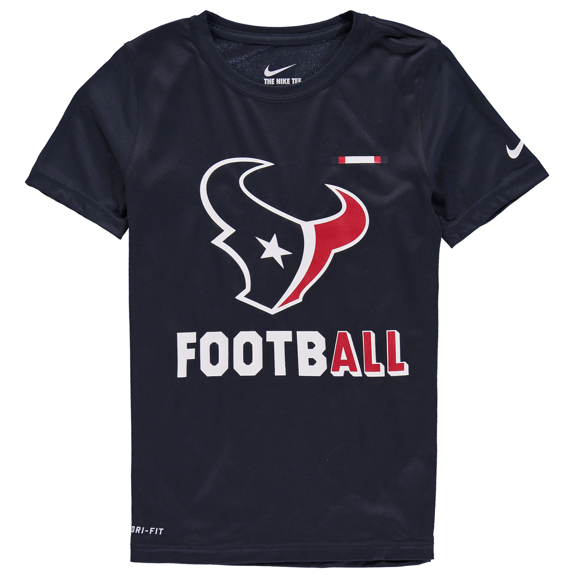 Houston Texans Nike Youth Legend Football Performance T-Shirt - Navy