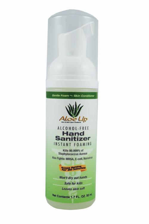 Aloe Up Alcohol Free Hand Sanitizer Pump Foamer, 1.7 Oz by Aloe Up