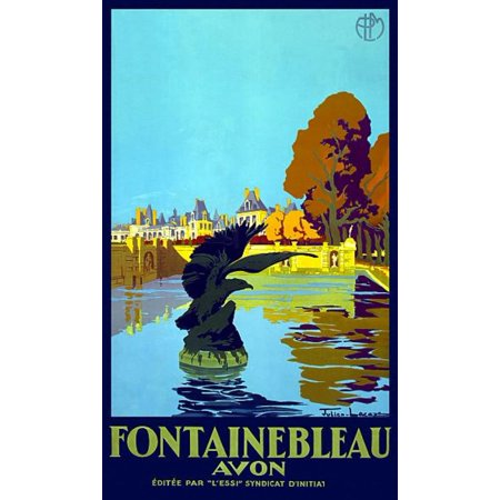 Fontainebleau Avon France Vintage Travel Poster Print