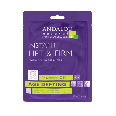 Andalou Naturals Instant Lift & Firm Hydro Serum Facial Mask, 0.6 Oz