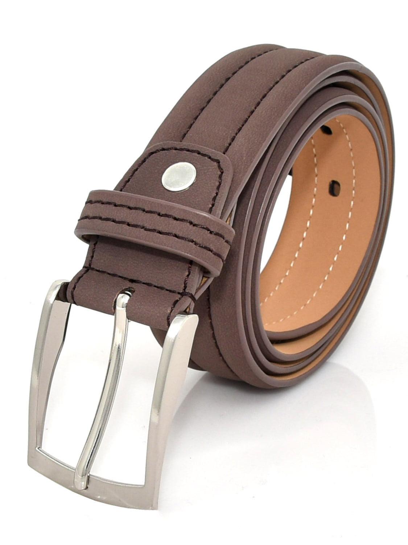 Mens Belt,Smart Business Dress Genuine Leather Pin Buckle