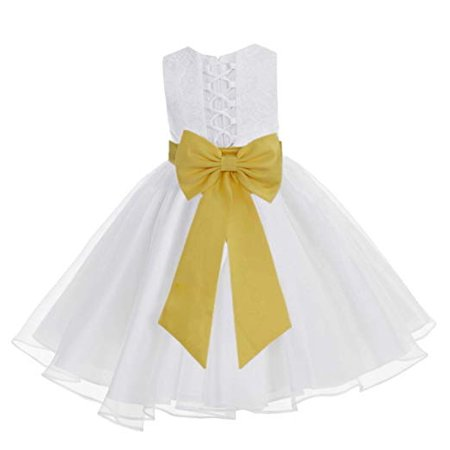 4423dc7da642 Ekidsbridal - Ekidsbridal White Lace Organza Flower Girl Dress ...