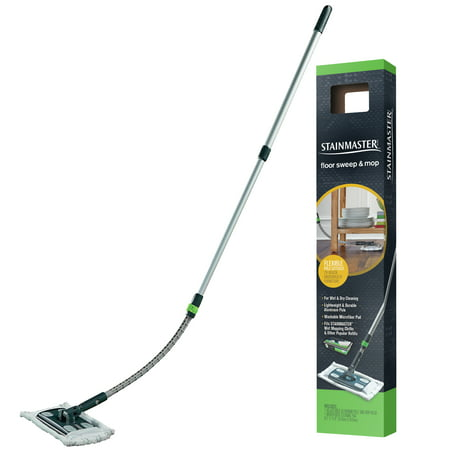 STAINMASTER Sweep & Mop Floor Cleaning Starter Kit with Reusable, Washable, Microfiber Refill Pad, 1ct.