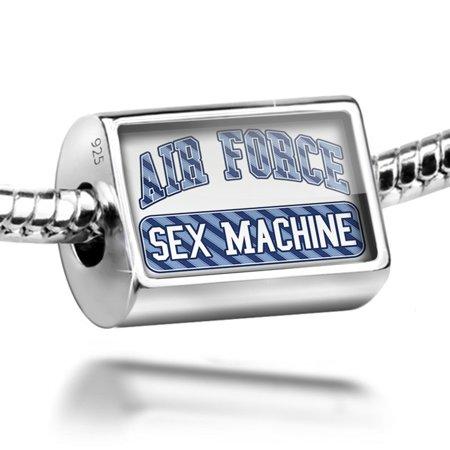 Bead Air Force Sex Machine, Blue stripes Charm Fits All European Bracelets