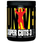 Universal Nutrition Super Cuts 3 Weight Loss Supplement, 130 Ct