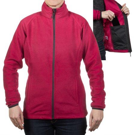 JGS Outfitters Women's Polar Fleece Zipper Jacket Lightweight Warm Sweater Shirt (Bench Fleece Jacket Women)