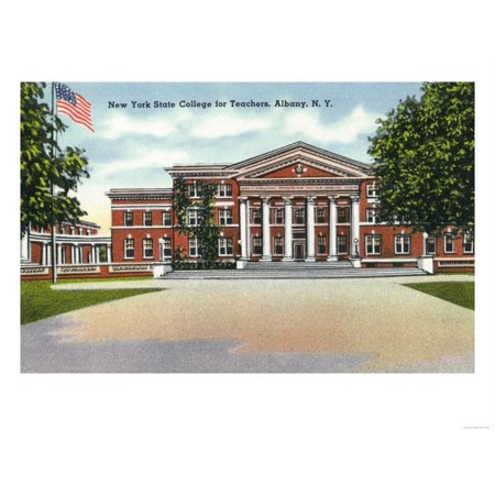 Albany, New York - Exterior View of NY State College for Teachers Print Wall Art By Lantern Press](Party Store Albany Ny)