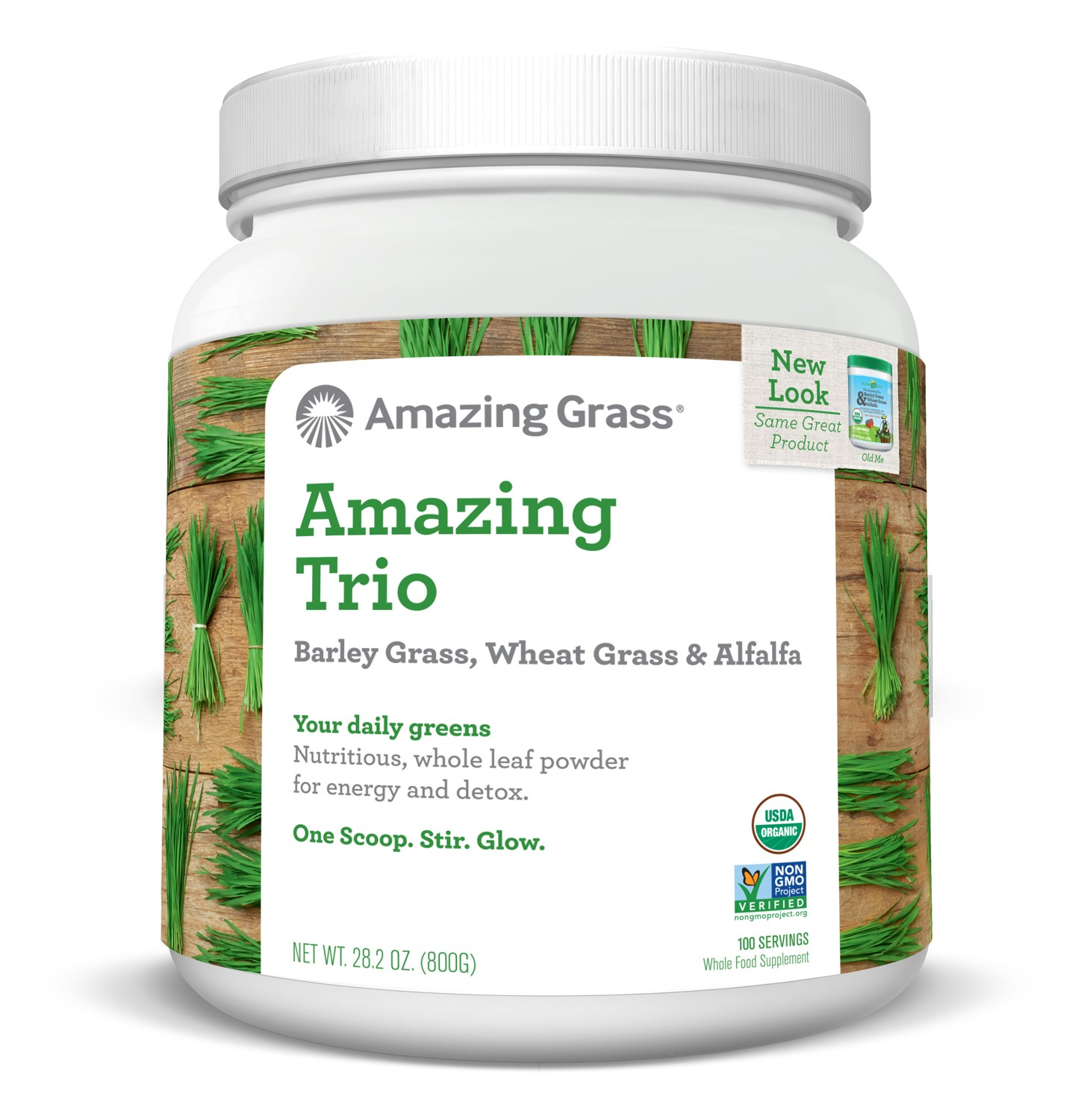 Amazing Grass Amazing Trio Alfalfa, Barley, & Wheatgrass Powder, 100 Servings