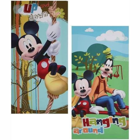 Disney Mickey Mouse Glow in the Dark 2-Pack Canvas Wall Art - Mickey Mouse Room Ideas