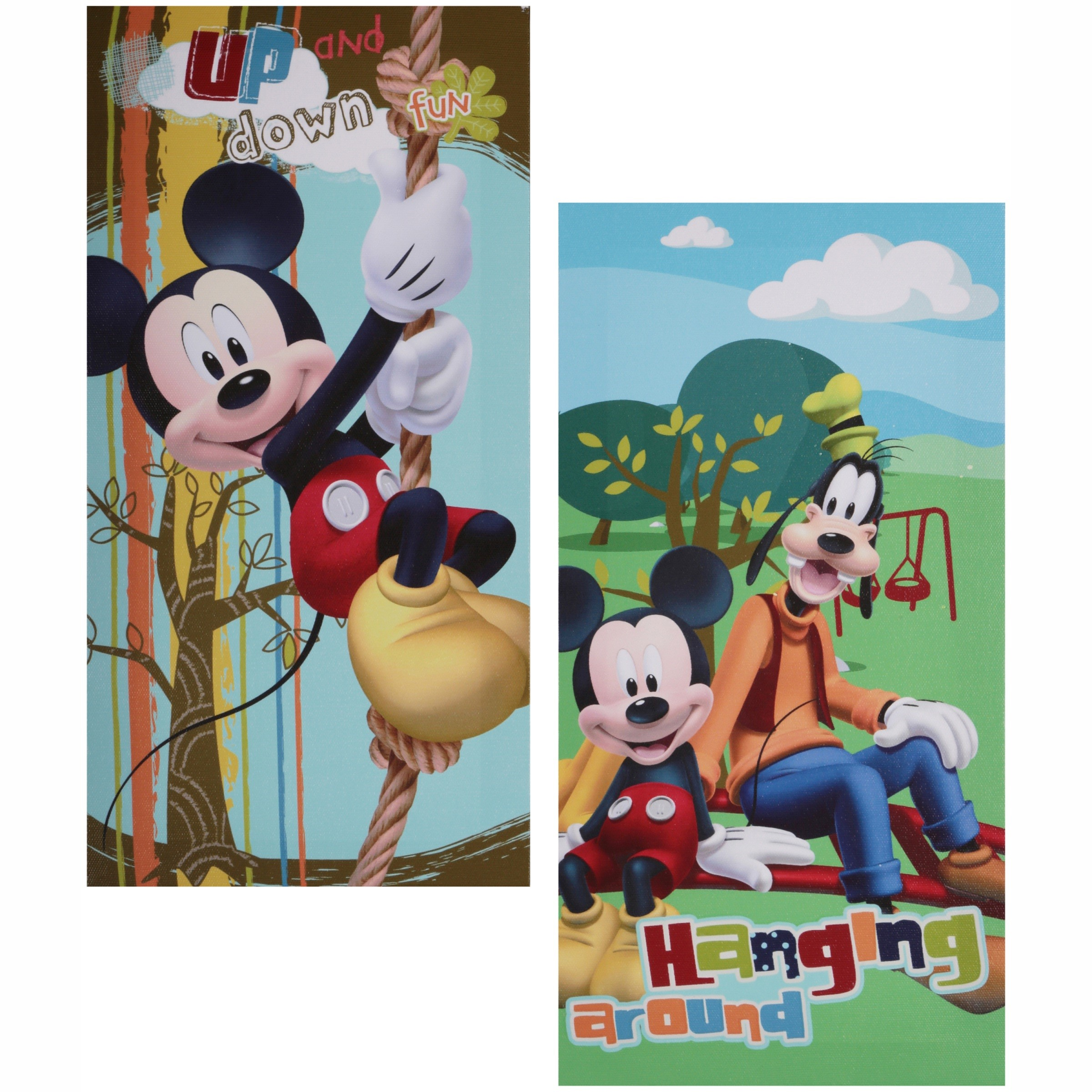 Disney Mickey Mouse Glow in the Dark 2-Pack Canvas Wall Art