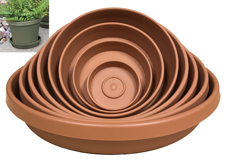 "Bloem Terra Plant Saucer Tray 20"" Terra Cotta"