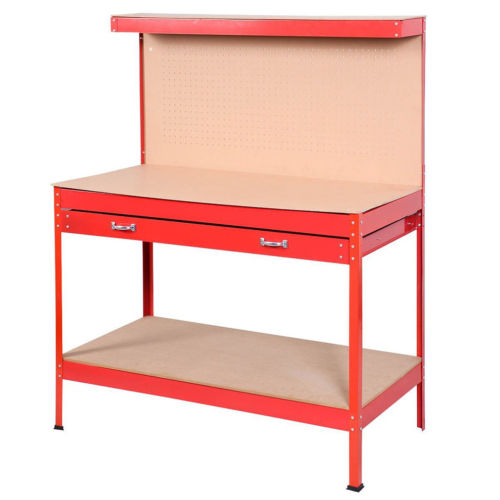 Wood Steel WorkBench Tools Table Home Workshop Bench