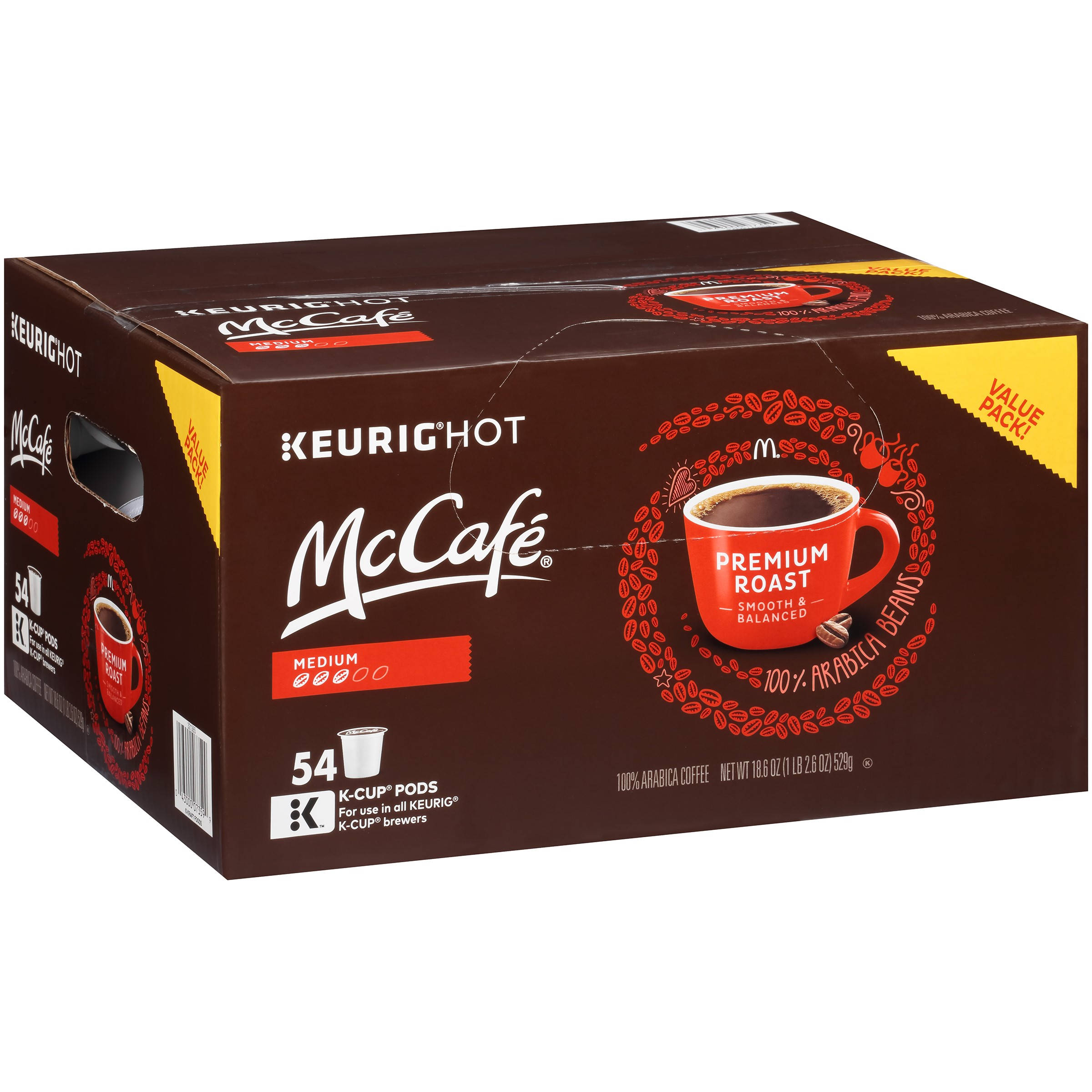 McCafe Premium Medium Roast Coffee K-Cup Pods, 54 count