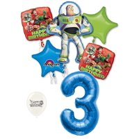 3rd Birthday Toy Story Buzz Lightyear and Friends Party Decorations Balloon Bouquet