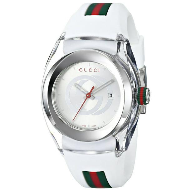 Gucci Sync L White Rubber Unisex Watch YA137302