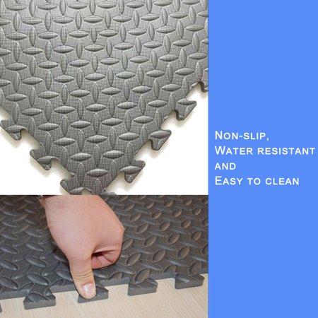 1120 Foam - New Gray 60 Tiles 240 Sq Ft EVA Foam Floor Mat Interlocking Flooring Exercise Gym DIY
