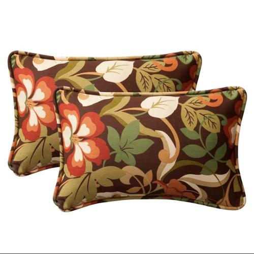 Pillow Perfect Outdoor/ Indoor Coventry Brown Rectangle Throw Pillow (Set of 2)