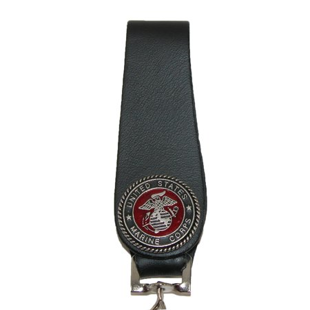 CTM Men's Leather Chain Wallet with Marine Decals - image 2 of 4