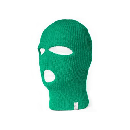 - TopHeadwear's 3 Hole Face Ski Mask, Kelly Green