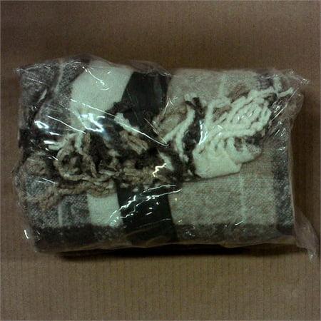 60x50 Faux Mohair Plaid Throw Blanket - Threshold - (Beige Mohair)