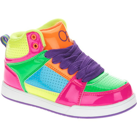 OP - Op Girls Neon Patch Skate Sneaker - Walmart.com 4dfbb1261
