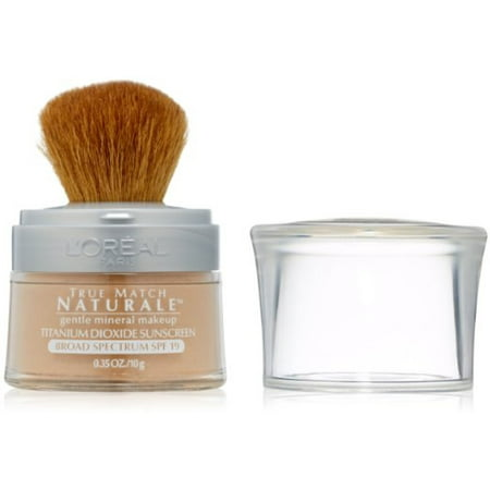 L'Oreal True Match Naturale Mineral Foundation, Creamy Natural [462] 0.35 oz (Pack of