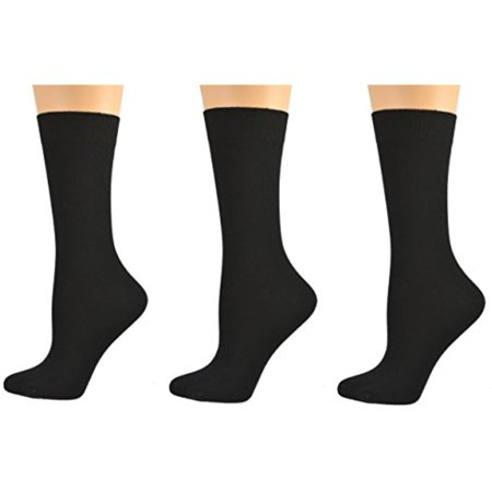 Bamboo Crew Solid Colors 3 Pair Pack Socks W15318