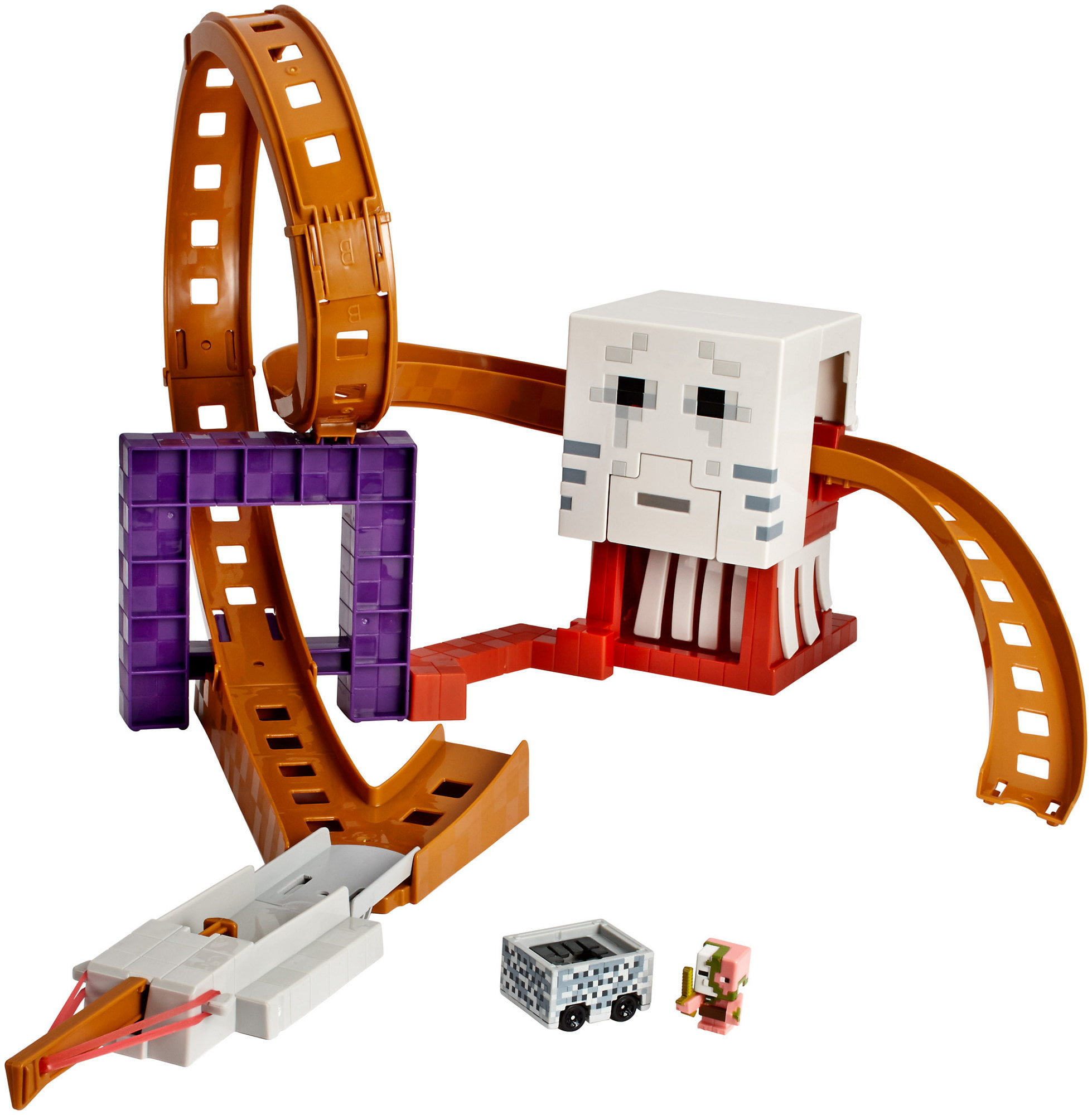Hot Wheels Minecraft Ghast Attack Track Set by Mattel