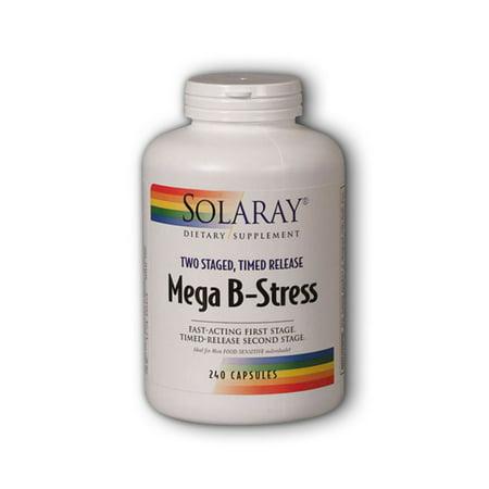 Solaray Mega B-Stress 240 Vegetarian Capsules