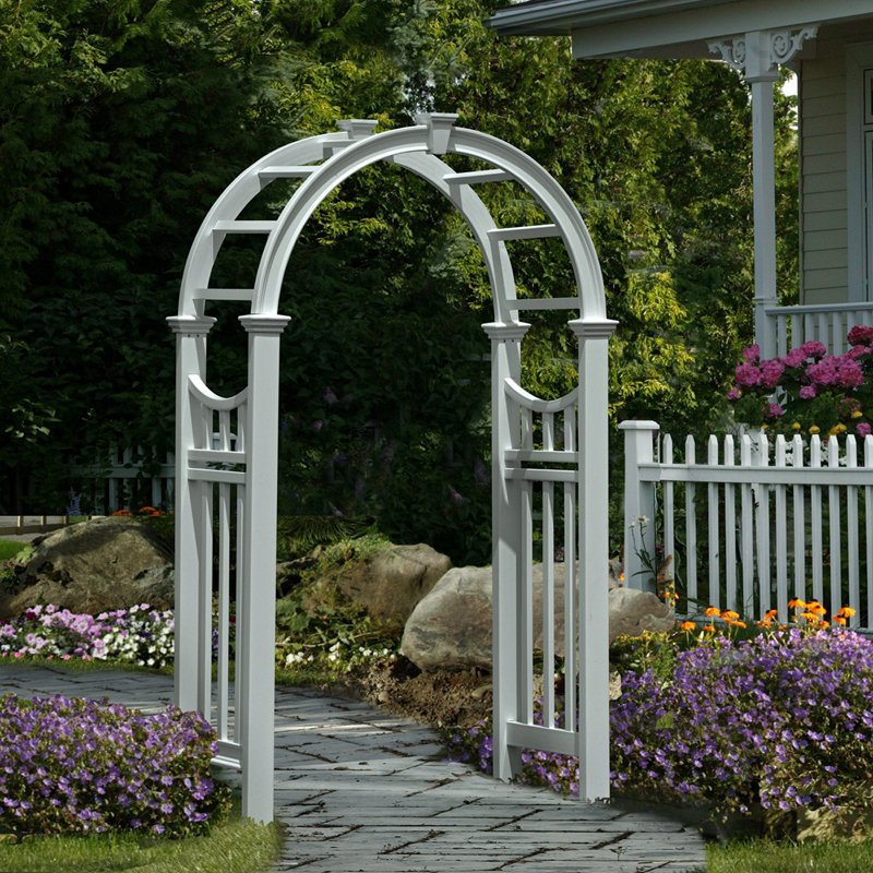 Eden Vienna 7.5-ft. Vinyl Arch Arbor by New England Arbors